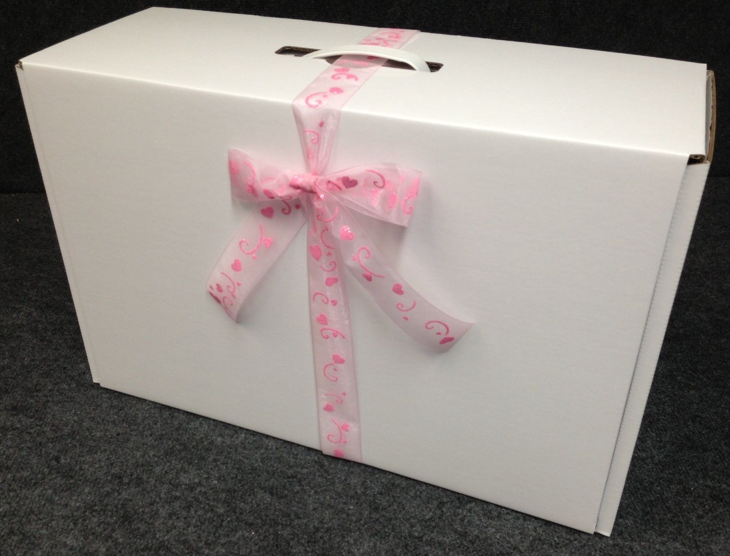 Lucie small wedding dress box with sheer heart ribbon for Acid free boxes for wedding dresses